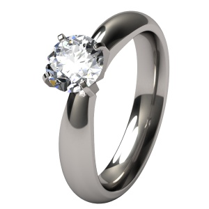 loving the darker tone of titanium, still want a thinner band - Helena Titanium Engagement Ring