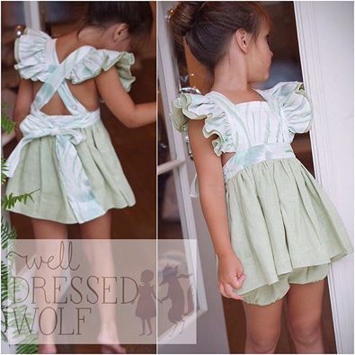 Well Dressed Wolf pinafore