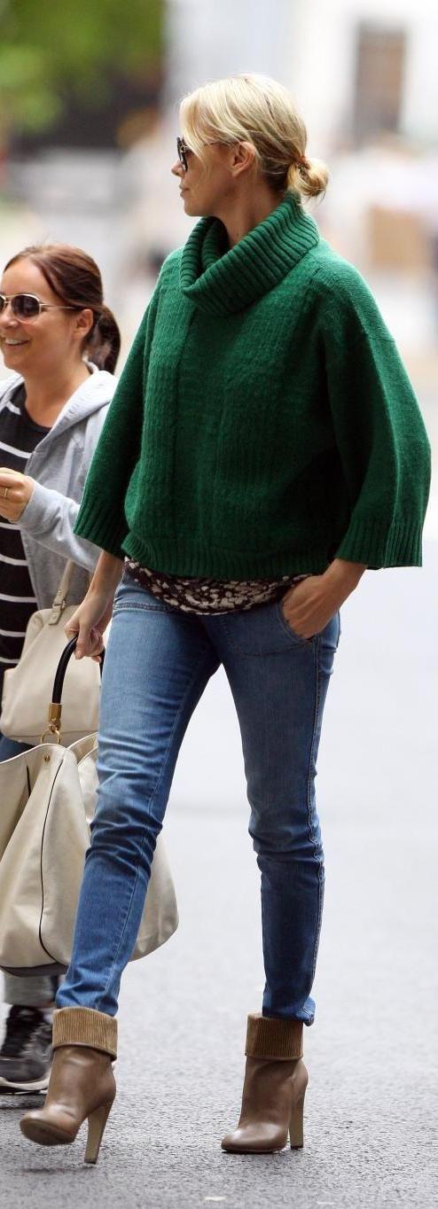 Kelly green poncho