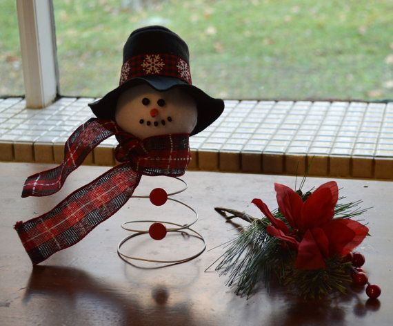 Snowman Bed Spring Snowman Snowman by PoconoMtnsCrafts on Etsy