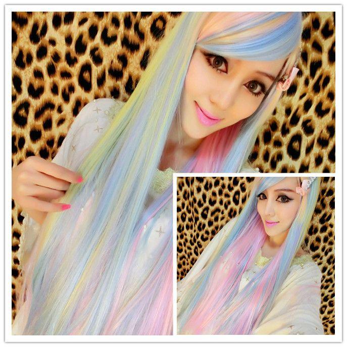 Дешевое косплей Harajuku Лолита градиент длинные прямые волосы подчеркивает отбеливания и крашения длинные прямые волосы соз парике, Купить Качество Парики непосредственно из китайских фирмах-поставщиках:  ? ? ? ? ? ? ? ? ?