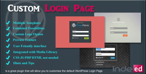 Indeed Custom Login Page