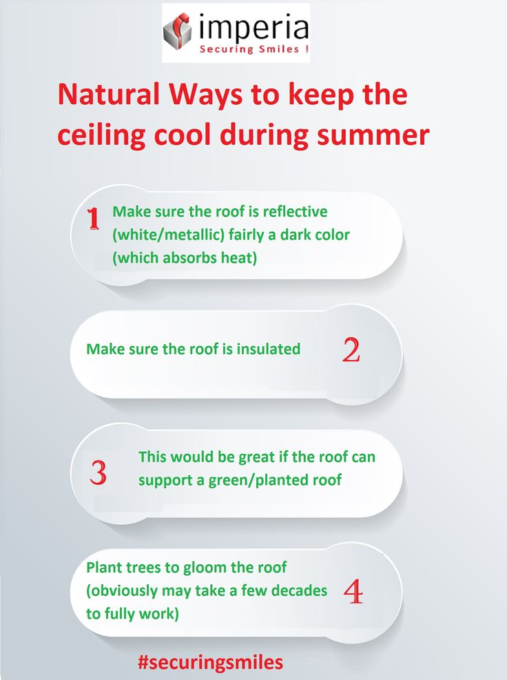You can use these #Ideas to keep the ceiling cool during #summer in #natural ways.  #homeidea #home #securingsmiles