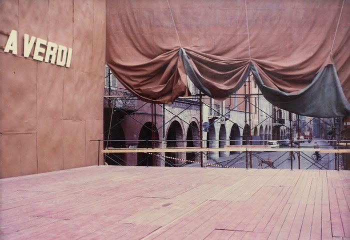 Luigi Ghirri: Busseto (Serie: Paesaggio italiano), 1985