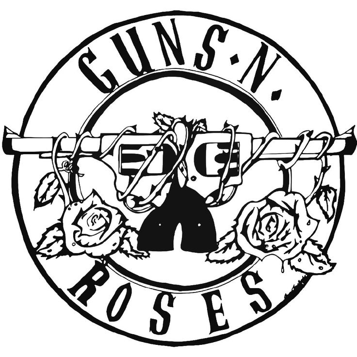 Guns N Roses Rock Band Logo Vinyl Decal Sticker BallzBeatz
