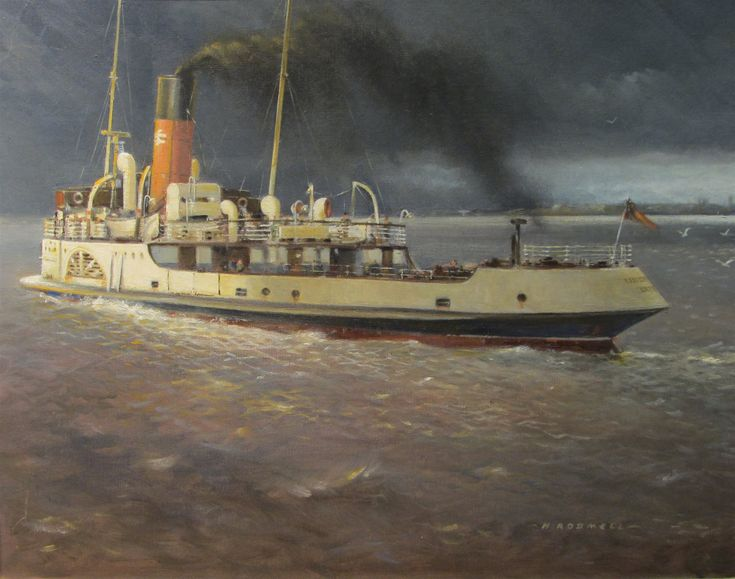 Henry Hudson Rodmell (British 1896-1984): 'The Humber Ferry P.S. Lincoln…