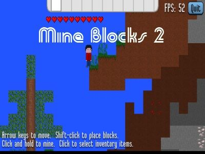 A boy has received a ticket to a dream in Mine Blocks 2 land. Players are supposed to help the boy have great memories in this dream by cutting, digging, creating, fighting, and exploring activities