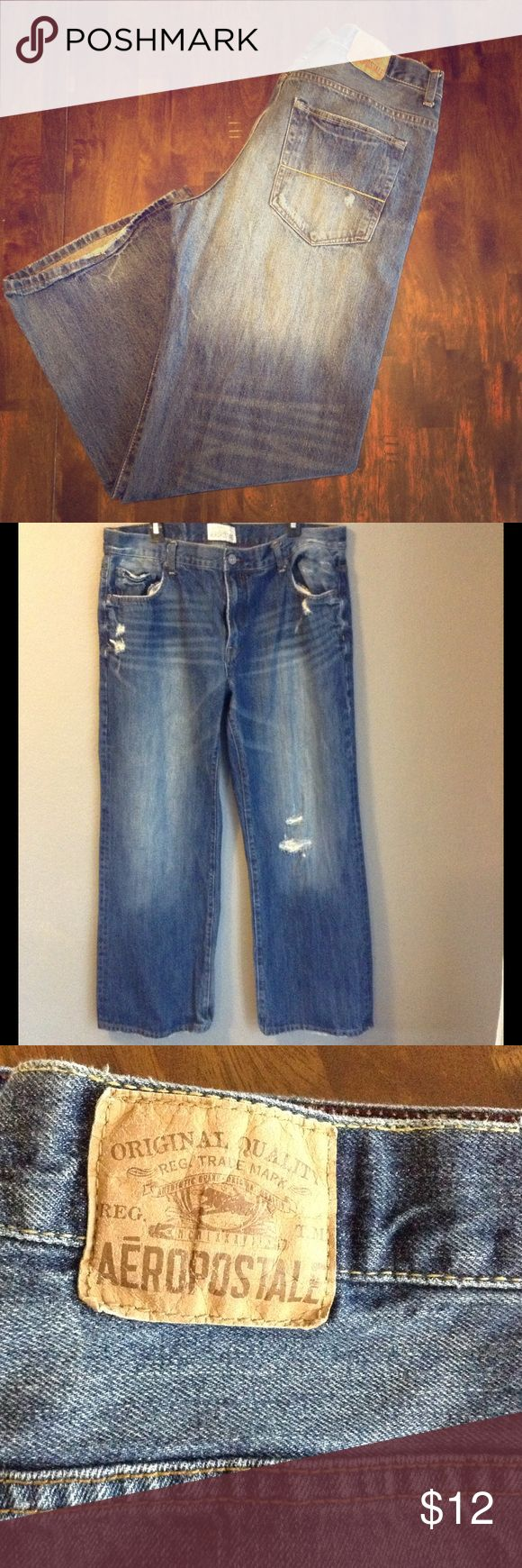 Aeropostale Men's Jeans Bootcut 38x32 Aeropostale Benton Original Bootcut jeans for men 38x32 in great condition. Aeropostale Jeans Bootcut