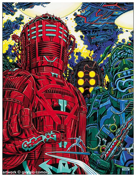 Celestials. Giant god-like beings, both organic and robotic, old as time.