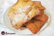 Cómo preparar este postre, trozos de masa crujiente y frita espolvoreadas con azúcar glass. Receta de Carnaval. Paso a paso, fotografías y trucos.