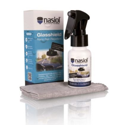 Rain repellent spray for safe driving in blustery conditions with 2 years viable nano covering.