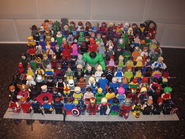LEGO MARVEL Minifigures by ReZourceman, via Flickr