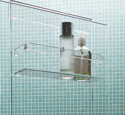 shower screen acrylic bathroom shower caddy