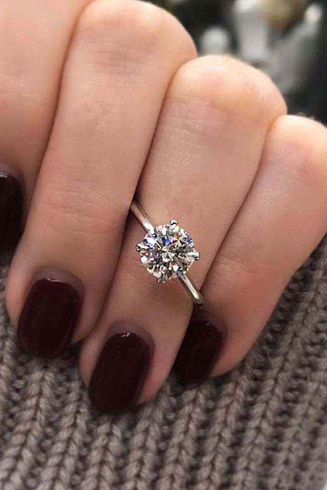 simple engagement rings round cut solitaire gold classic ring #engagementringrou…