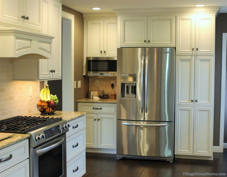 this painted kitchen in the pearl finish with umber highlights was - Kitchen Remodel Stores
