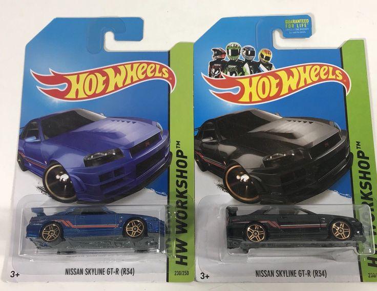 Nice Amazing Hot Wheels Lot Of 2 Nissan Skyline GTR R34 Black Blue JDM Import Diecast 1:64 2017/2018
