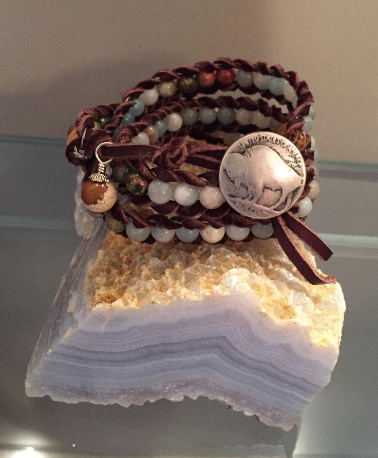 Amazonite Triple Wrap Bracelet