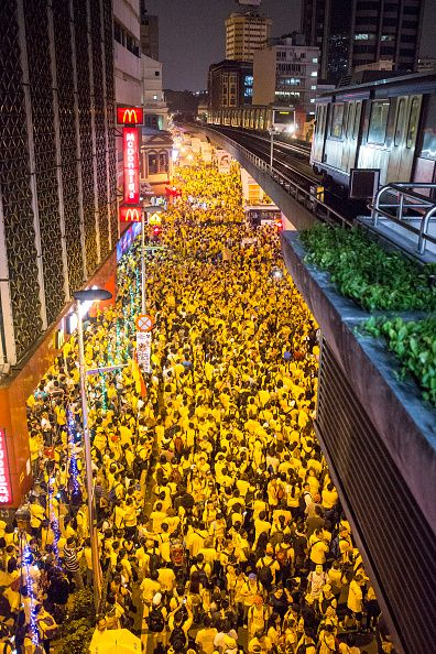 Protestors throng the streets around Merdeka Square during the Bersih 40…