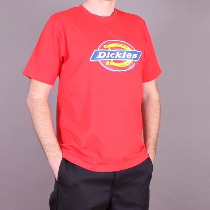 Czerwona męska koszulka z nadrukiem Dickies Horseshoe T-shirt Red  / www.brandsplanet.pl / #dickies streetwear #czerwony t-shirt