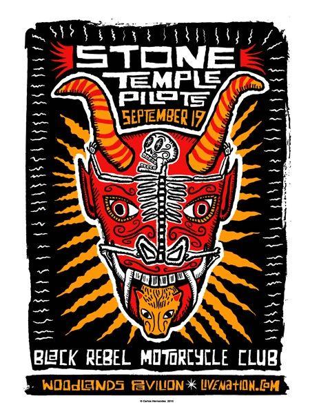 SALE Stone Temple Pilots with Black Rebel Motorcycle Club. $48.00, via Etsy.