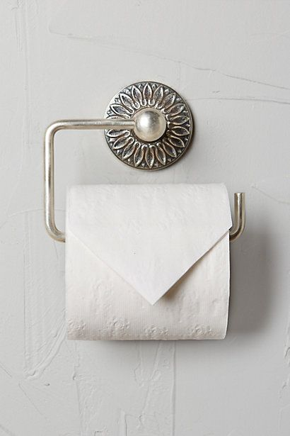 Floral Imprint Toilet Paper Holder #anthropologie