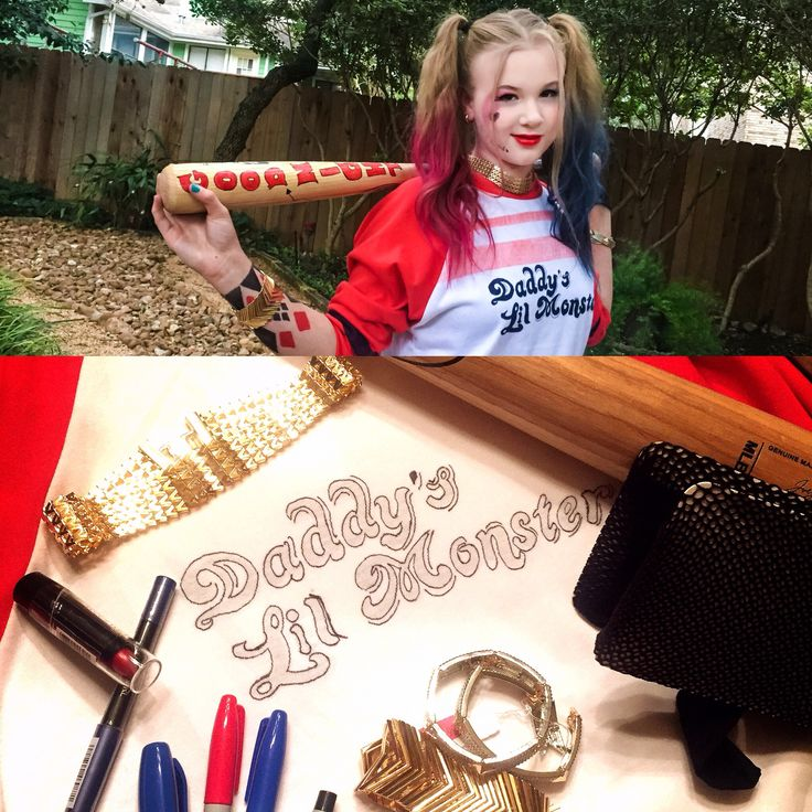 diy kids harley quinn costume halloween - Halloween Costumes Diy Kids