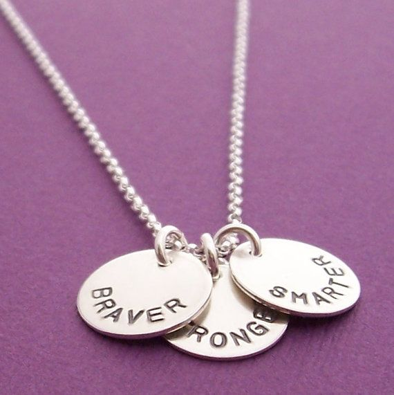 Wisdom of Pooh Necklace Hand Stamped, Engraved