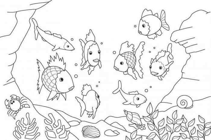 Ocean Coloring Pages Pdf Animal Coloring Pages Rainbow Fish Coloring Page Fish Coloring Page