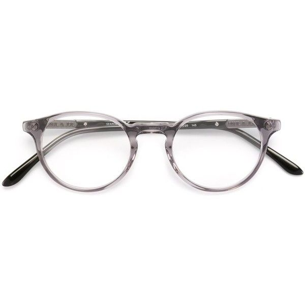 Paul & Joe 'Bengali' glasses (1.255 RON) ❤ liked on Polyvore featuring accessories, eyewear, eyeglasses, grey and acetate glasses