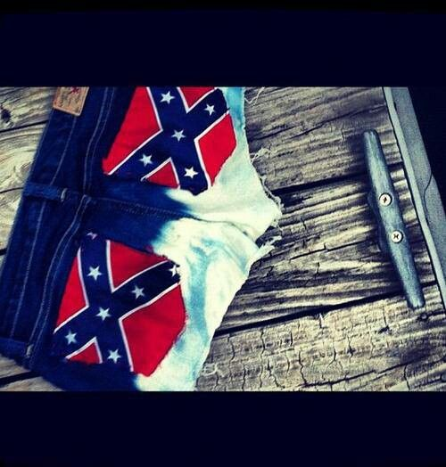Rebel Flag shorts longer shorts of course but ssssssssooooo freakin cute!