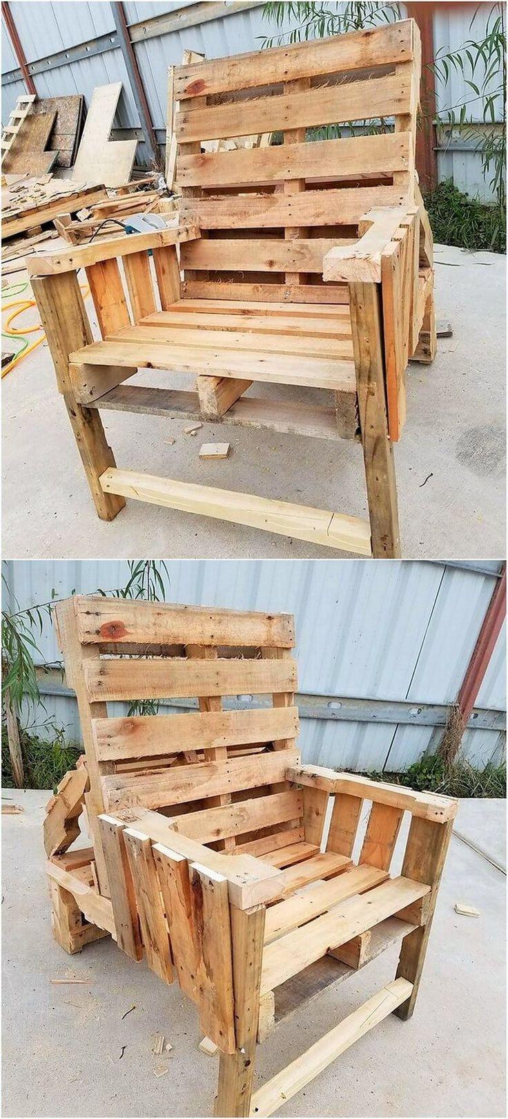Best 25+ Pallet chairs ideas on Pinterest   Pallet bank ...