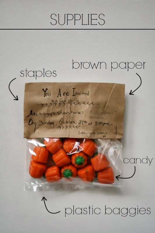 Today Is My Favorite: Eatable Fall Party Invitations // DIY