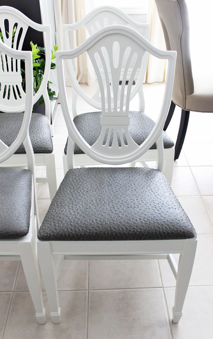 This hand painted hepplewhite style chairs is no longer available - Am Dolce Vita Antique Shield Back Chair Transformation Lenoir Antique Shield Back Chair Ostrich Upholstery Painted Dining Chairs Grey Ostrich Upholstery