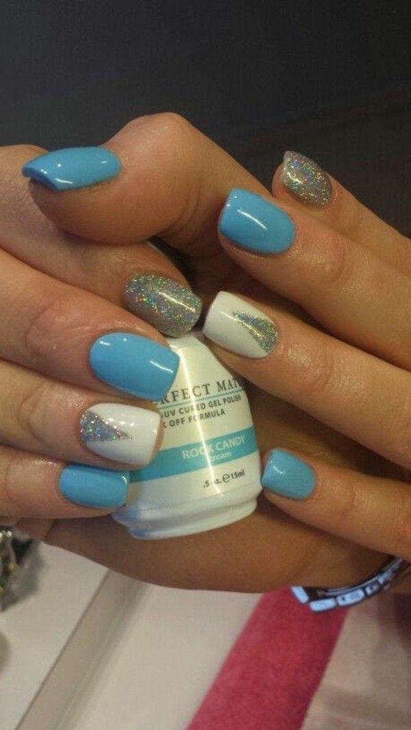 azzurro bianco argento glitter