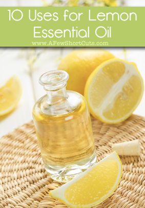 10 Uses for Lemon Essential Oil! So versatile! #natural #essentialoil