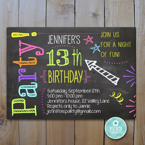 These invitations are perfect birthday invitations for any age. They are colorful and fun and can be personalized with your text.    Printable