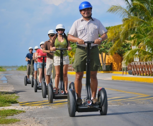 Cozumel Segway and Snorkel Tour. I wonder if they will let Hap use one?