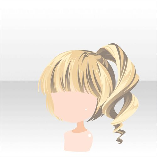 how to draw a ponytail from the side