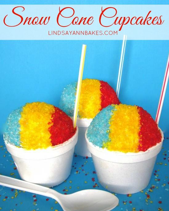 Want sweet fruity snow cones without the hassle of renting a snow cone machine for your next party? These snow cone cupcakes look just like...