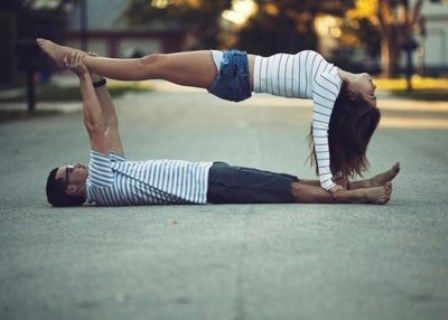 Yoga Picture Two Person Yoga Challenge Easy