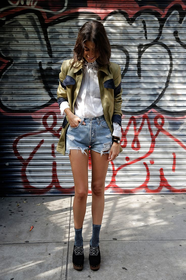 Leandra Medine, the Man Repeller, in our collaboration military jacket