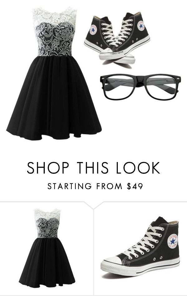 """""""Me in the middle school dance hopefully (insert my crush name) asks me"""" by themysteriousmultifandomgirl ❤ liked on Polyvore featuring Converse, women's clothing, women, female, woman, misses and juniors"""