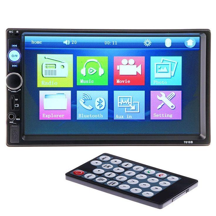 7'' HD Car Radio Player 2 Din Touch Screen Bluetooth Stereo Radio FM/MP3/MP4/MP5/Audio /Video/USB/TF Auto Electronics In Dash