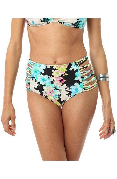 O'Neill 'Flora' High Waist Bikini Bottoms available at #Nordstrom