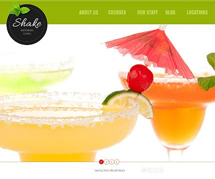 Shake Bartenders Joomla Templates by Delta