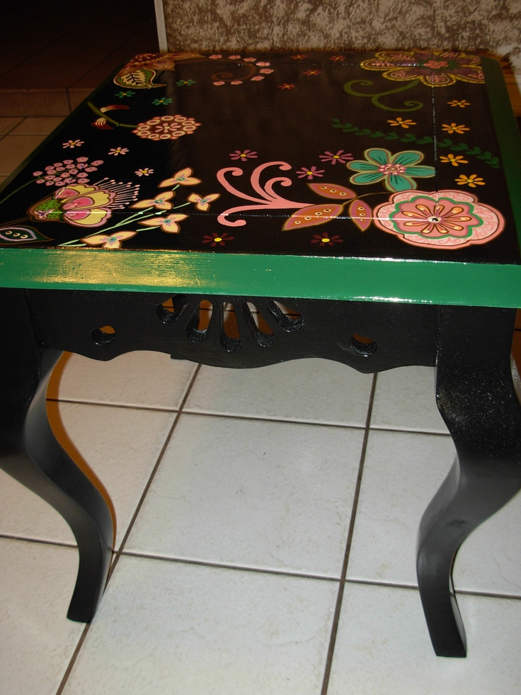 Painted Coffee Table By Marie Lloyd Craft Ideas Pinterest