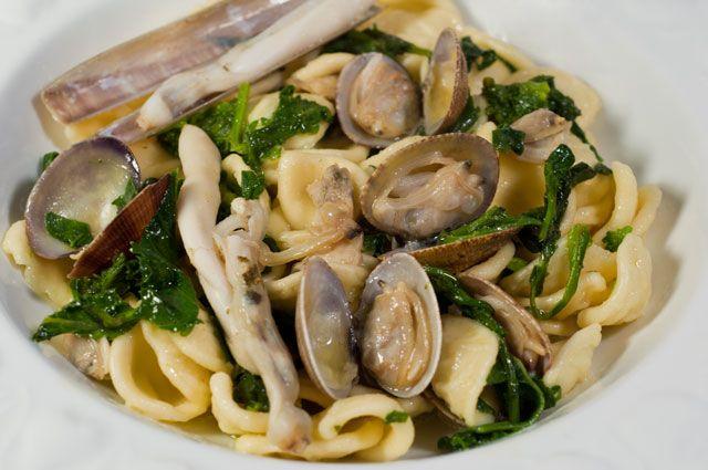 Orecchiette seafood and broccoli - Orecchiette frutti di mare e friarielli - Appunti di cucina di Rimmel
