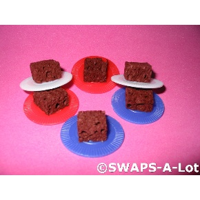 SWAPS-A-Lot - Pre-Made Plate of Brownies SWAPS for Girl Kids Scout (25)