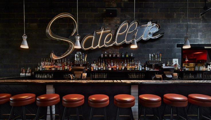 The bar of the Satellite Room by Streetsense