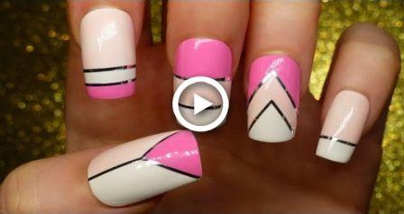 Luxury Pink Nail Art Valentines Day Nail Art